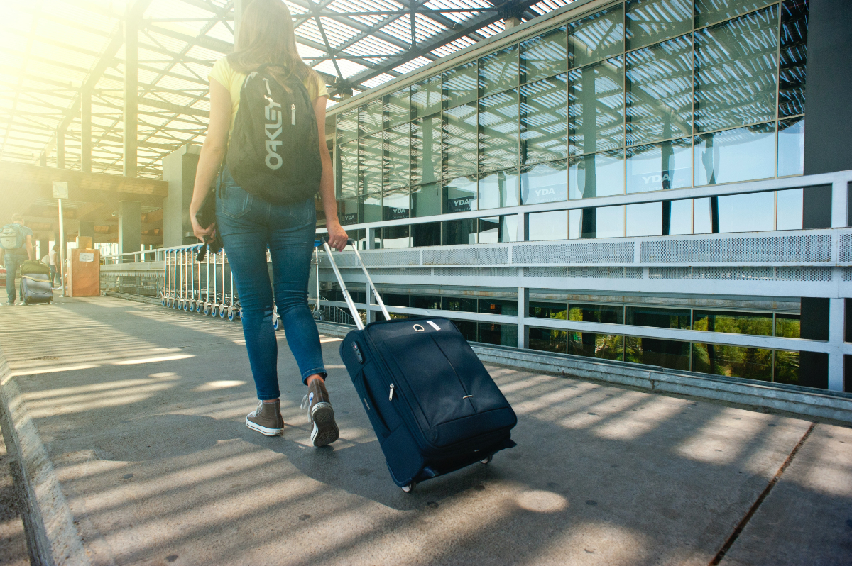 Study abroad suitcase travel
